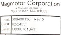 Magmotor Technologies Inc  500400136