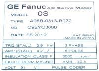 Fanuc A06B-0313-B072 image