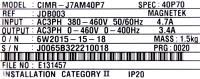 Yaskawa CIMR-J7AM40P7 image