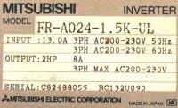 Mitsubishi FR-A024-1.5K-UL image