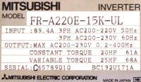 Mitsubishi FR-A220E-15K-UL image