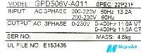Magnetek GPD506V-A011 image