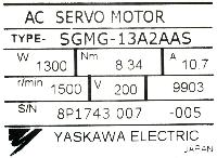 Yaskawa SGMG-13A2AAS image