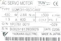 Yaskawa SGMGH-05DCA6F image