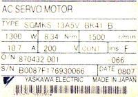 Yaskawa SGMKS-13A5V-BK41-B image