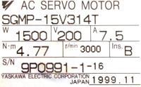 Yaskawa SGMP-15V314T image