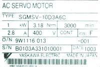 Yaskawa SGMSV-10D3A6C image