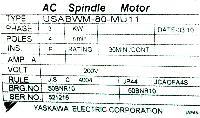 Yaskawa USABWM-80-MU11 image