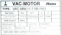 Okuma VAC-MML11-7.5R-156T image
