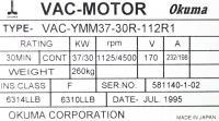 Okuma VAC-YMM37-30R-112R1 image