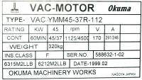 Okuma VAC-YMM45-37R-112 image