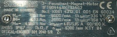 New Refurbished Exchange Repair  Siemens Motors-AC Servo 1FT6044-4AK71-3AG2 Precision Zone