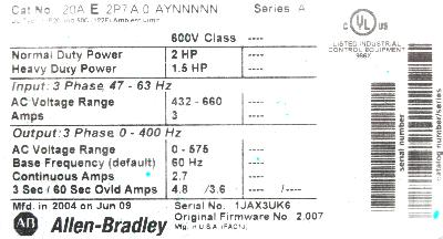 New Refurbished Exchange Repair  Allen-Bradley Inverter-General Purpose 20AE2P7A0AYNNNNN Precision Zone