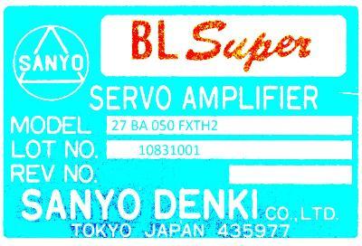 New Refurbished Exchange Repair  Sanyo Denki Drives-AC Servo 27BA050FXTH2 Precision Zone