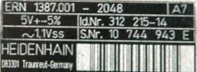 New Refurbished Exchange Repair  HEIDENHAIN Internal encoders 312215-14 Precision Zone