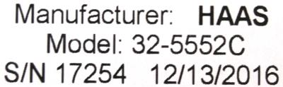 New Refurbished Exchange Repair  HAAS Drives-AC Servo 32-5552C Precision Zone