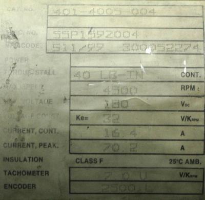 New Refurbished Exchange Repair  Baldor Motors-DC Servo 401-4005-004 Precision Zone