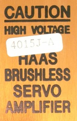 New Refurbished Exchange Repair  HAAS Drives-AC Servo 4015J-A Precision Zone