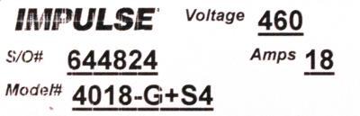New Refurbished Exchange Repair  Magnetek Inverter-Crane 4018-G+S4 Precision Zone