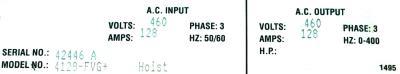 New Refurbished Exchange Repair  Magnetek Inverter-Crane 4128-FVG+ Precision Zone