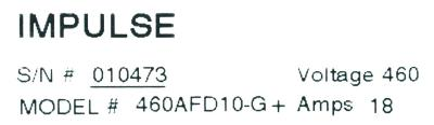New Refurbished Exchange Repair  Magnetek Inverter-Crane 460AFD10-G+ Precision Zone