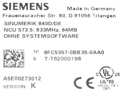 New Refurbished Exchange Repair  Siemens Drives-AC Servo 6FC5357-0BB35-0AA0 Precision Zone