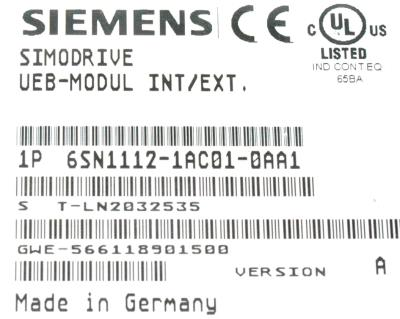 New Refurbished Exchange Repair  Siemens Drives-AC Servo 6SN1112-1AC01-0AA1 Precision Zone