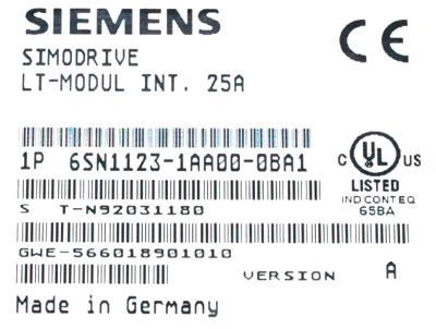 New Refurbished Exchange Repair  Siemens Drives-AC Servo 6SN1118-0AA11-0AA1 Precision Zone