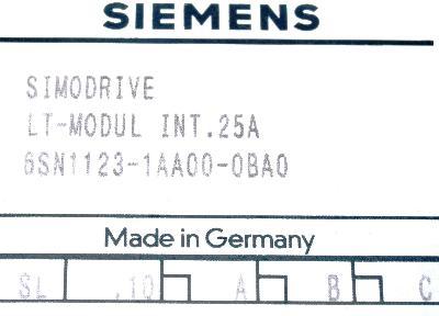 New Refurbished Exchange Repair  Siemens Part of product 6SN1123-1AA00-0BA0 Precision Zone