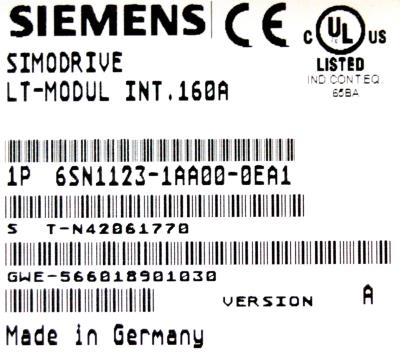 New Refurbished Exchange Repair  Siemens Part of product 6SN1123-1AA00-0EA1 Precision Zone