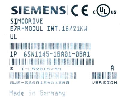 New Refurbished Exchange Repair  Siemens Drives-AC Servo 6SN1145-1BA01-0BA1 Precision Zone