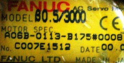 New Refurbished Exchange Repair  Fanuc Motors-AC Servo A06B-0113-B175-0008 Precision Zone
