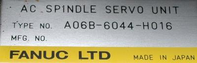 New Refurbished Exchange Repair  Fanuc Drives-AC Spindle A06B-6044-H016 Precision Zone