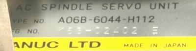New Refurbished Exchange Repair  Fanuc Drives-AC Spindle A06B-6044-H112 Precision Zone