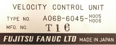 New Refurbished Exchange Repair  Fanuc Drives-AC Servo A06B-6045-H005-H006 Precision Zone