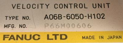 New Refurbished Exchange Repair  Fanuc Drives-AC Servo A06B-6050-H102 Precision Zone
