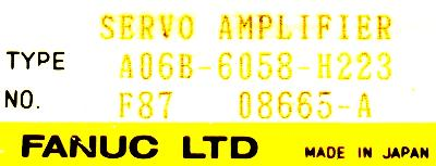New Refurbished Exchange Repair  Fanuc Drives-AC Servo A06B-6058-H223 Precision Zone