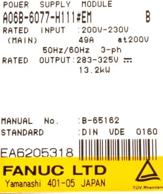 New Refurbished Exchange Repair  Fanuc Part of machine A06B-6077-H111-EM Precision Zone