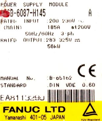 New Refurbished Exchange Repair  Fanuc Part of machine A06B-6087-H145 Precision Zone