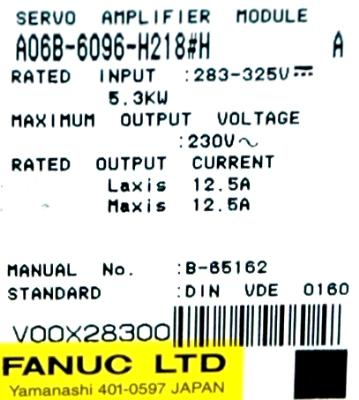 New Refurbished Exchange Repair  Fanuc Drives-AC Servo A06B-6096-H218-H Precision Zone