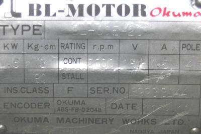 New Refurbished Exchange Repair  Okuma Motors-AC Servo BL-30E-20T Precision Zone