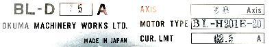 New Refurbished Exchange Repair  Okuma Drives-AC Servo BL-D75A Precision Zone