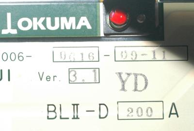 New Refurbished Exchange Repair  Okuma Drives-AC Servo BLII-D200A Precision Zone