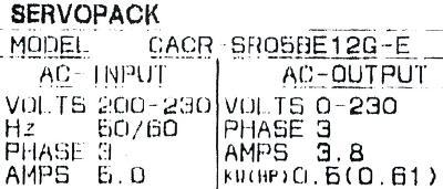 New Refurbished Exchange Repair  Yaskawa Drives-AC Servo CACR-SR05BE12G-E Precision Zone