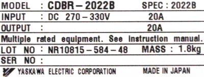 New Refurbished Exchange Repair  Yaskawa Inverters-Braking Module CDBR-2022B Precision Zone