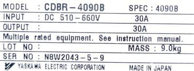 New Refurbished Exchange Repair  Yaskawa Inverters-Braking Module CDBR-4090B Precision Zone