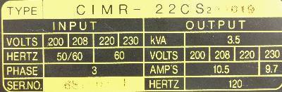 New Refurbished Exchange Repair  Yaskawa Inverter-General Purpose CIMR-22CS2 Precision Zone