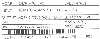 New Refurbished Exchange Repair  Yaskawa Inverter-General Purpose CIMR-F7U47P5 Precision Zone