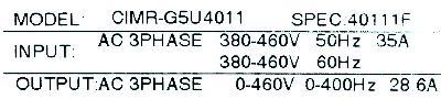 New Refurbished Exchange Repair  Yaskawa Inverter-General Purpose CIMR-G5U4011 Precision Zone