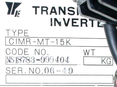 New Refurbished Exchange Repair  Yaskawa Drives-AC Spindle CIMR-MT-15K Precision Zone